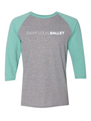 SLB Mint Green and Heather Grey Raglan (Adult Sizes) (ORDER BY OCT 17) PRE-ORDER PICK-UP ONLY/SHIPPING NOT AVAILABLE