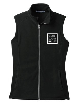 SLB LOGO Ladies Black Microfleece Vest (ORDER BY OCT 17) PICKUP ONLY/SHIPPING NOT AVAILABLE