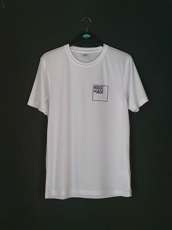 White short-sleeve sports tee