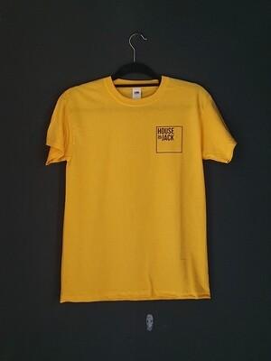 Cotton yellow short-sleeve sports tee