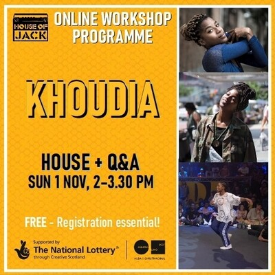 Khoudia Online House Workshop, Sun 1 Nov, 2 - 3.30 pm