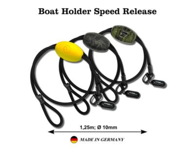 Système attache rapide bateau Poseidon avec poignée de tirage (flotteur noir/jaune/camou)