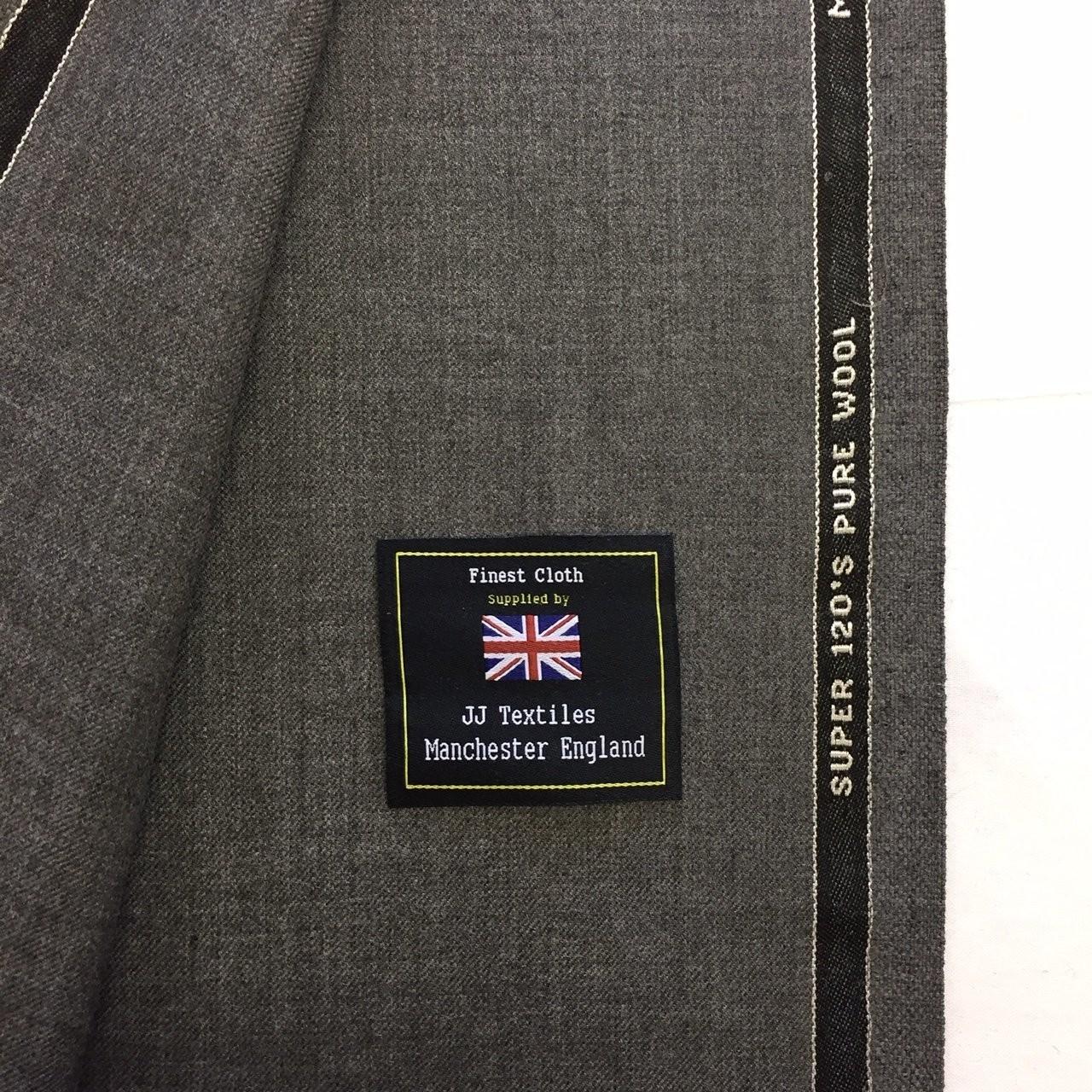 Woven In England 290g PER METRE Dark Navy Super 120s wool Suit Fabric