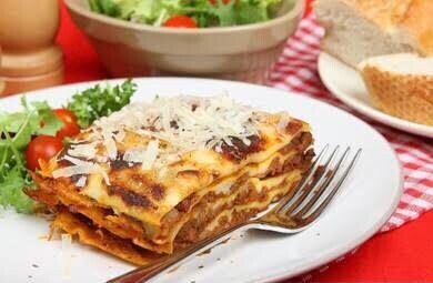 Dinner - Lasagne, Salad, French Loaf - 1 x Person
