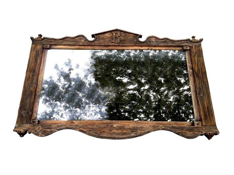 Farmhouse rustic mirror