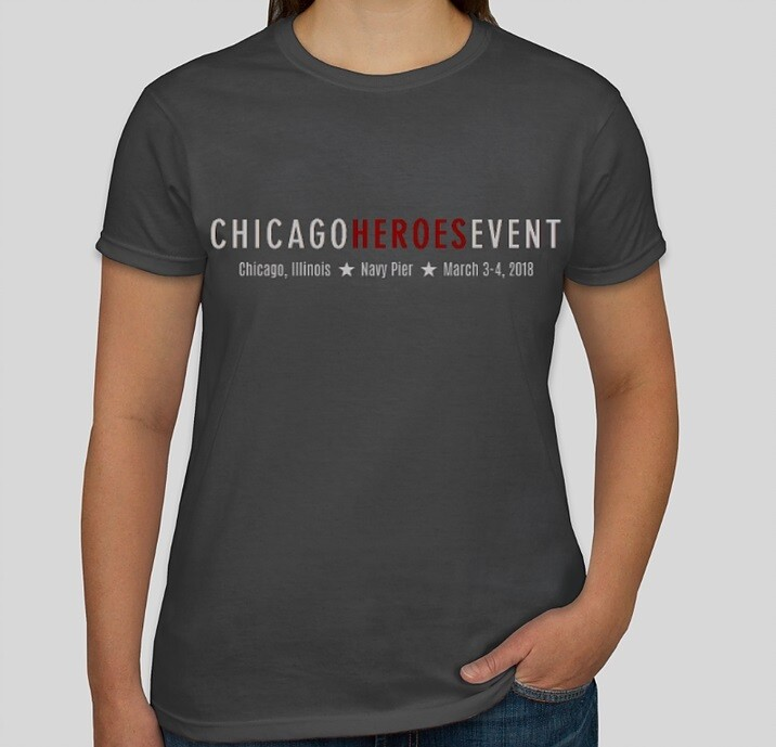Exclusive Chicago Heroes Event 2018 T-Shirt - Ladies (GREY)