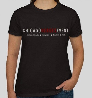 Exclusive Chicago Heroes Event 2018 T-Shirt - Ladies (BLACK)