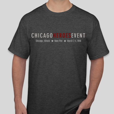 Exclusive Chicago Heroes 2018 T-Shirt - Unisex (GREY)