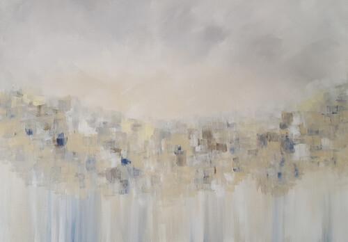 WALK IN THE RAIN Giclee Canvas Print