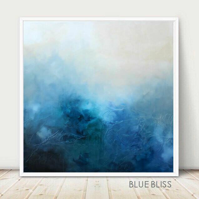 BLUE BLISS Canvas Giclee Art Print