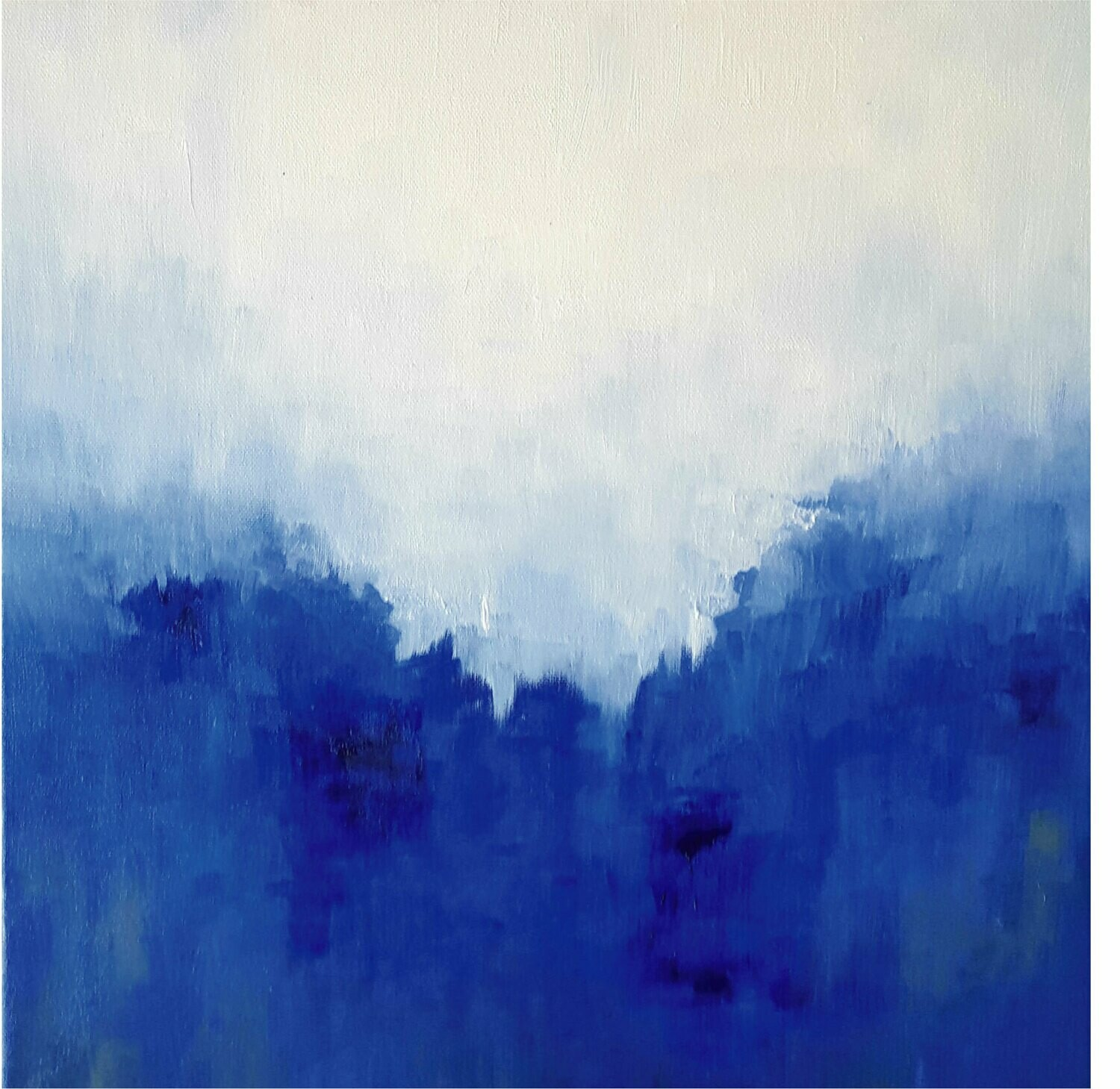 BLUE PERSPECTIVE Modern Abstract Canvas Print