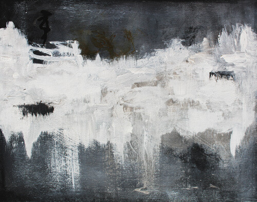 BLACKWATER Modern Art Canvas Giclee Print