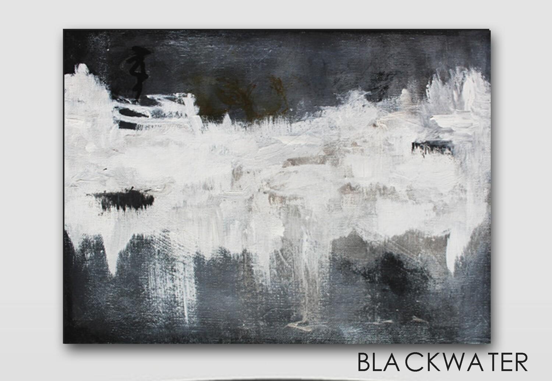 Black White Bold Modern Art Canvas Giclee Print