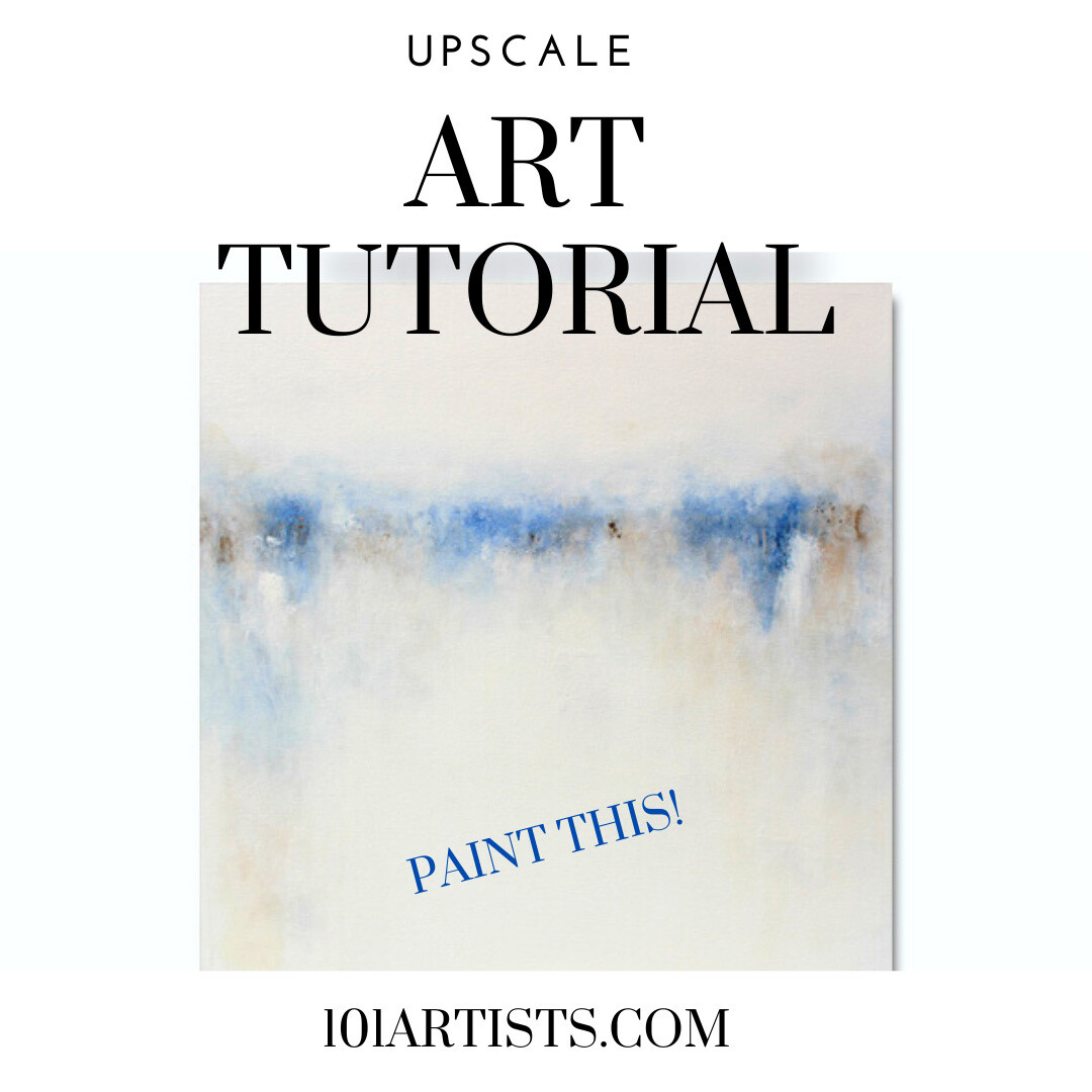 Abstract Art Painting Class - How to Paint a Modern Landscape