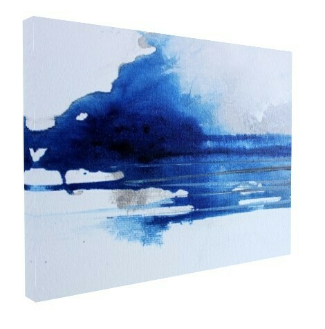 Modern Landscape Canvas Prints | Abstract Wall Art | Blue White