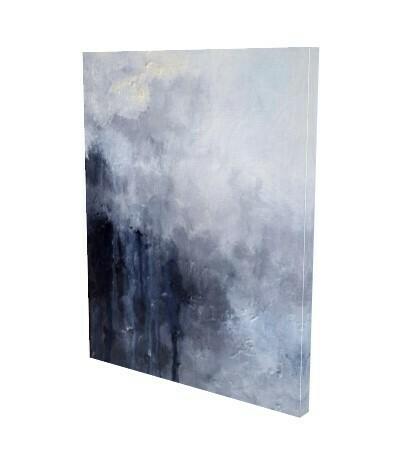 Black White Abstract Wall Art Print   Canvas Prints Modern Home Decor