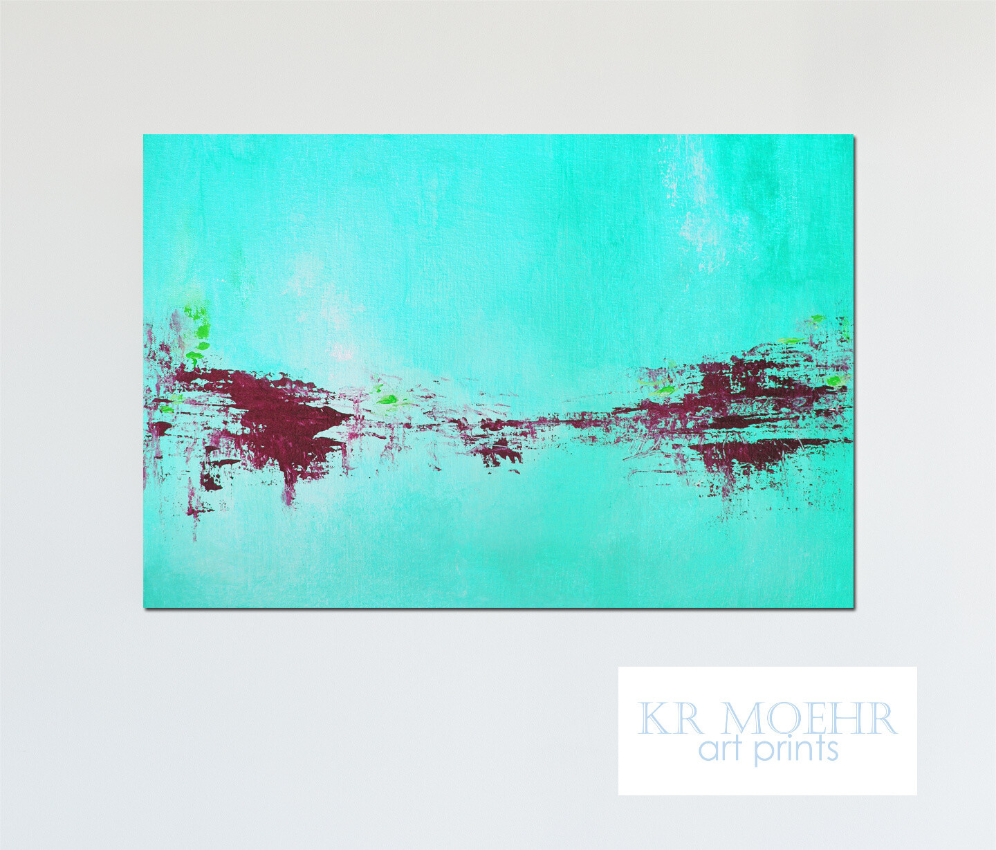 Abstract Art Print - Modern Canvas Giclee - Neon