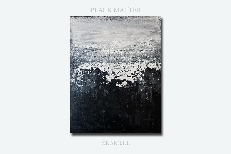 BLACK WHITE GREY ORIGINAL ABSTRACT ART PAINTING