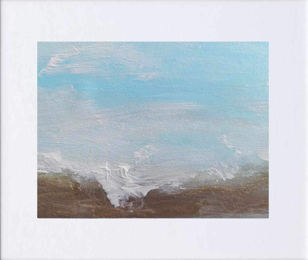Coastal Art Painting | Minimalist Abstract Beach | Contemporary Seascape