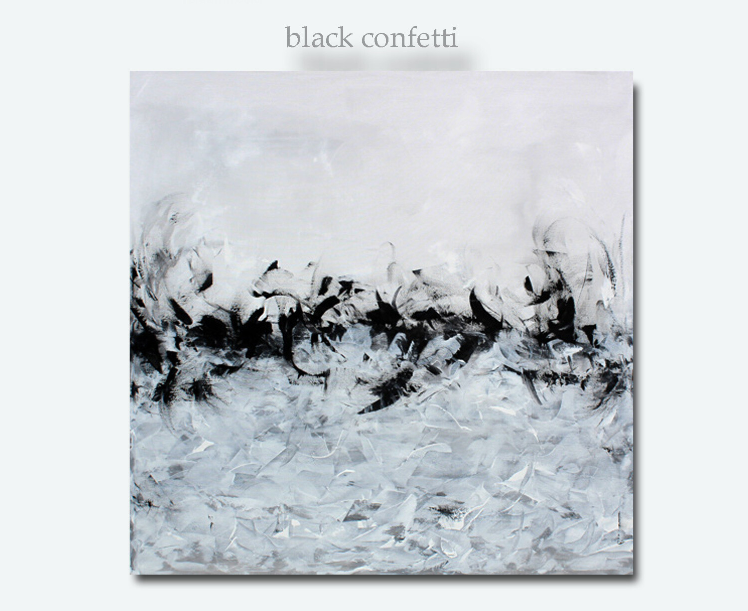 Oversized XL Black White Grey Original Large Canvas Abstract Wall Art Painting