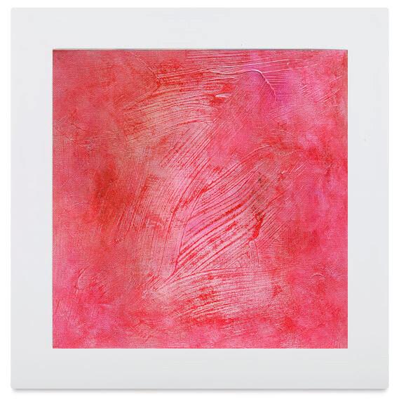 Red Pink Original Abstract Canvas Wall Art - Bedroom Powder Room