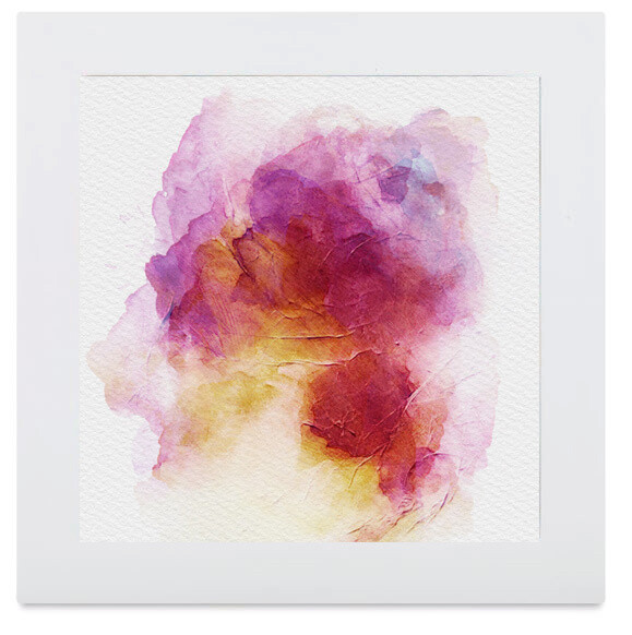 Abstract Watercolor Framed Art Print Pink Red Yellow Orange