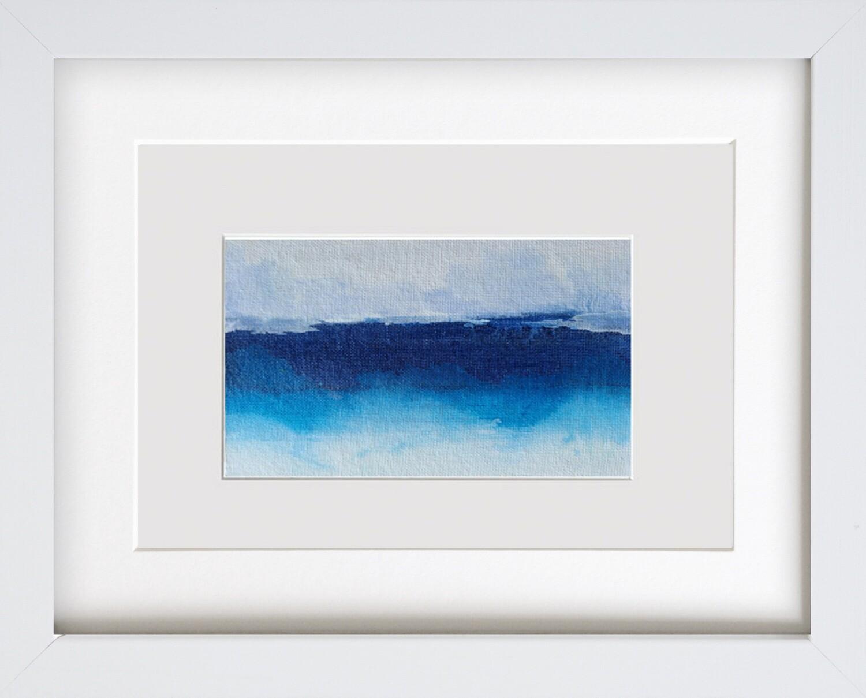 Framed Modern Abstract Landscape Art Painting