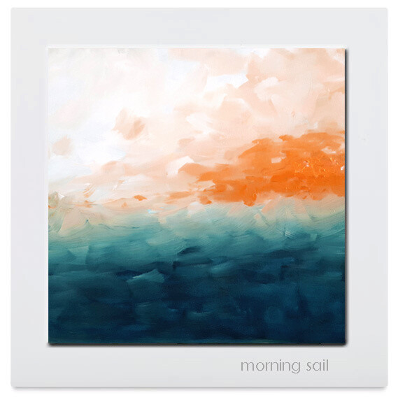 MORNING SAIL Abstract Seascape Art Print Giclee Canvas
