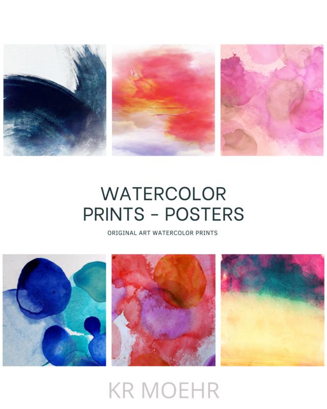 Watercolor Painting Art Prints Book - Cut and Frame Art Prints