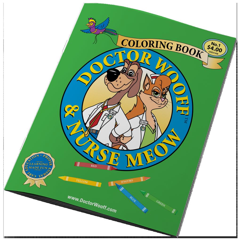 DOCTOR WOOFF COLORING BOOK