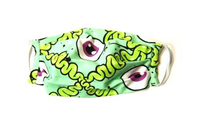Green Graffiti Guts Face Mask