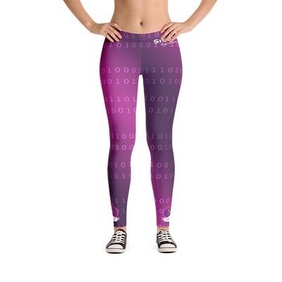 Somi Purple All-Over Print Leggings