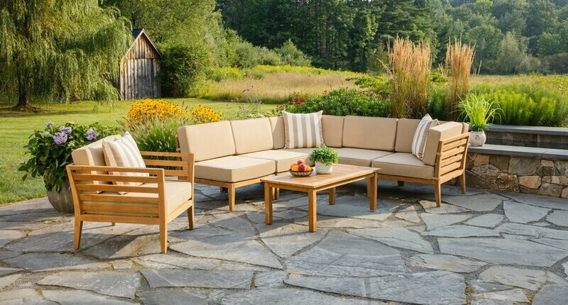 Bali Outdoor Teak Sectional Set