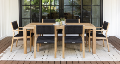 Malibu Teak & Rope Dining Set for 6