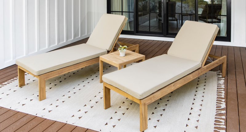 Bali Teak Lounge Chair Package