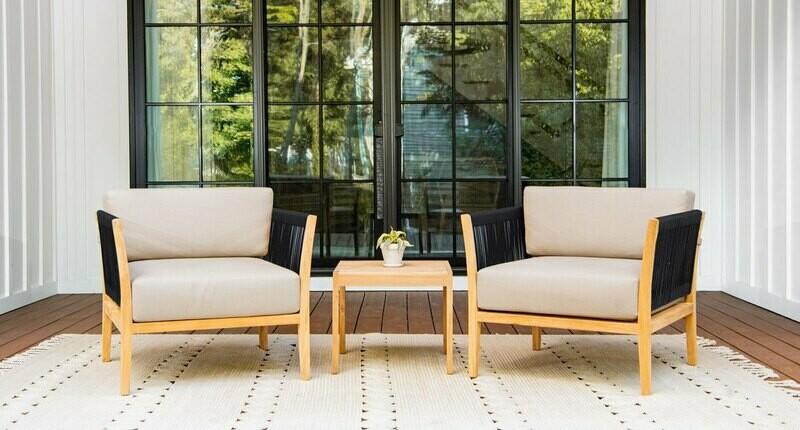 Malibu Teak & Rope Club Chair Package