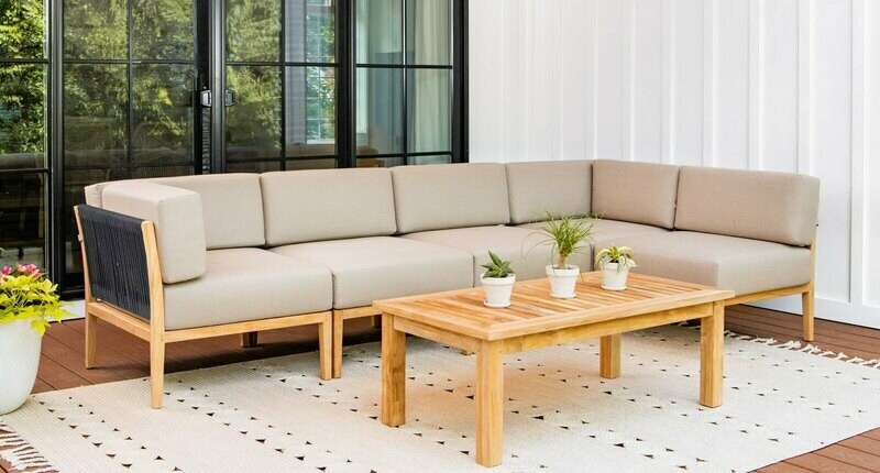 Malibu Teak & Rope Outdoor Sectional
