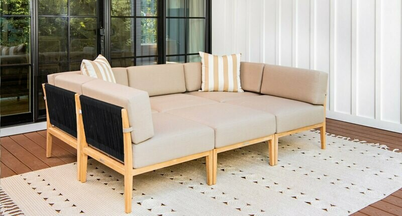 Malibu Teak & Rope Outdoor Daybed