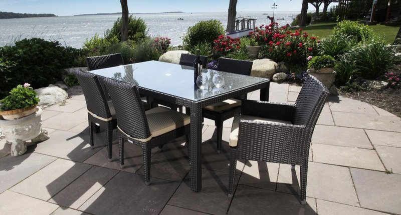 Cypress Outdoor Dining Set for 6