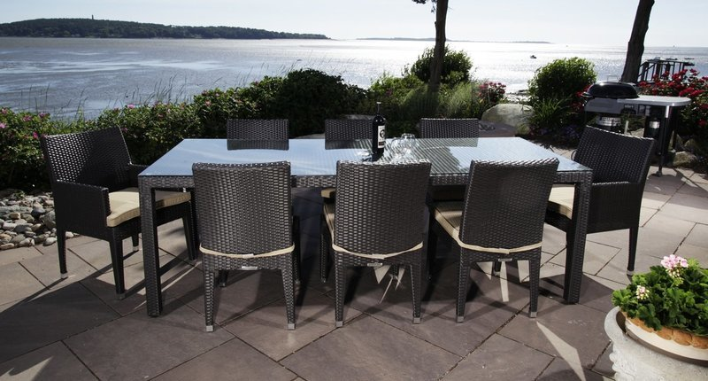 Cypress Outdoor Dining Set for 8