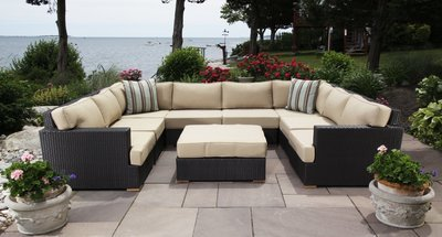 Salina Outdoor U-Shaped Sectional Set