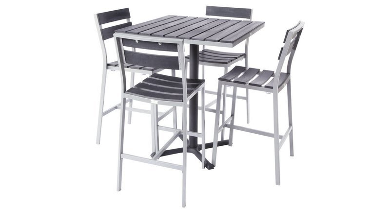 Milloy Outdoor 4-Top Bar Set