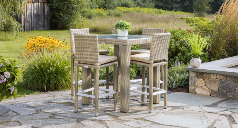 Outdoor Gray Ibiza Bistro Set for 4