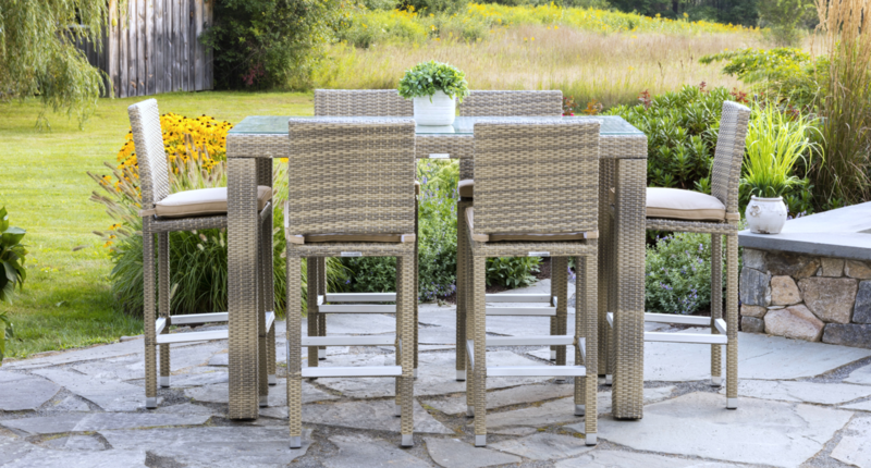 Outdoor Gray Ibiza Bistro Set for 6