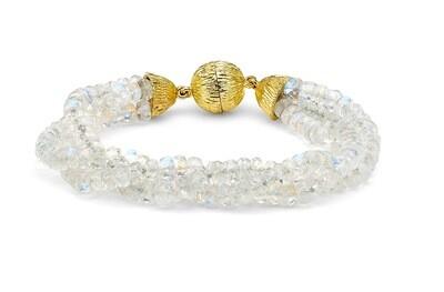 Rainbow Moonstone beaded bracelet