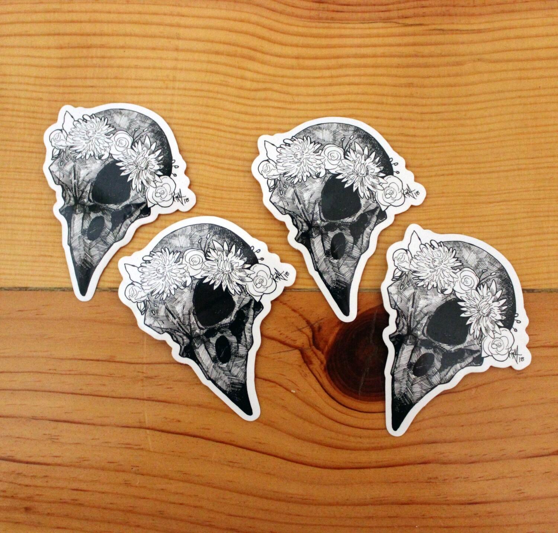 Bird Skull Sticker