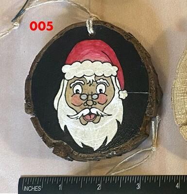 Santa 2 Wood Ornament