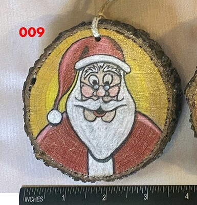 Santa Claus 3 Wood Ornament