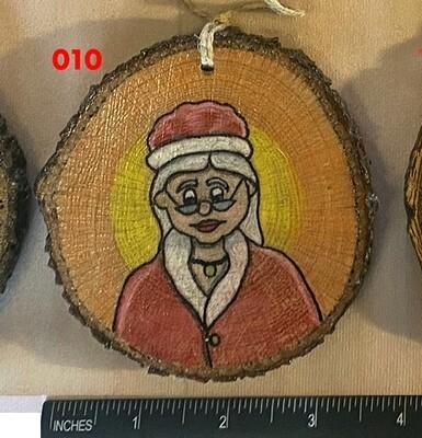 Mrs. Claus Wood Ornament