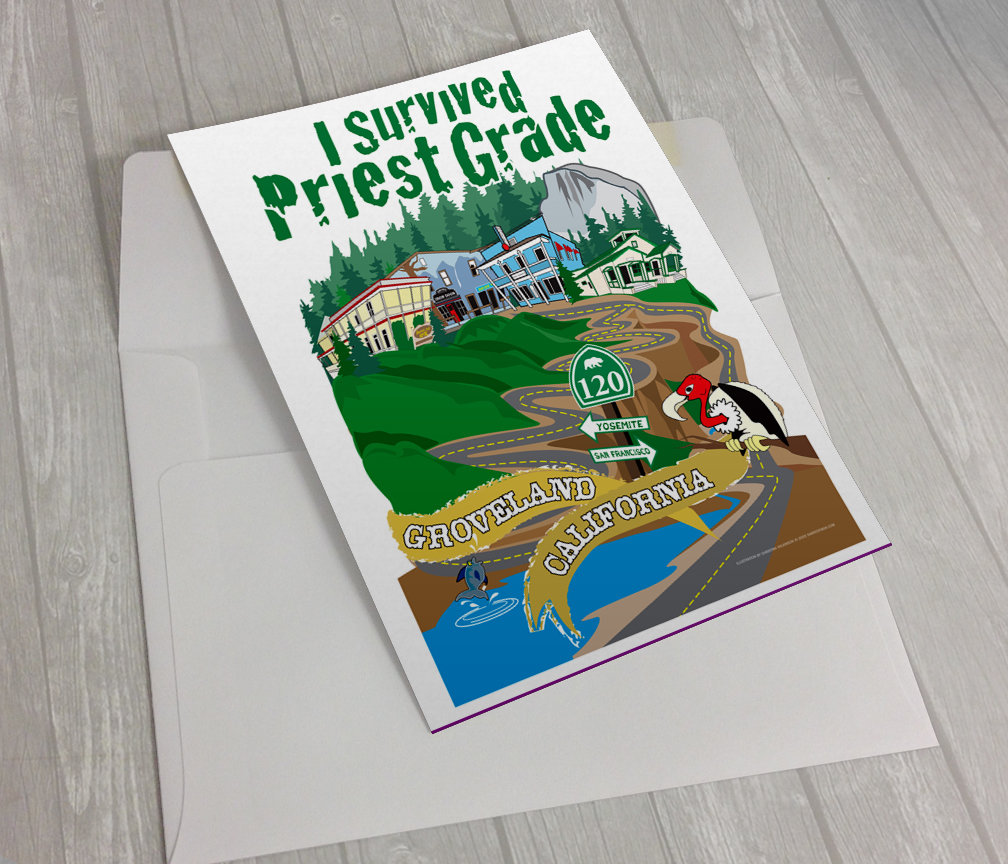 "25 each 5""x7"" I Survived Priest Grade Greeting Cards with Envelopes"